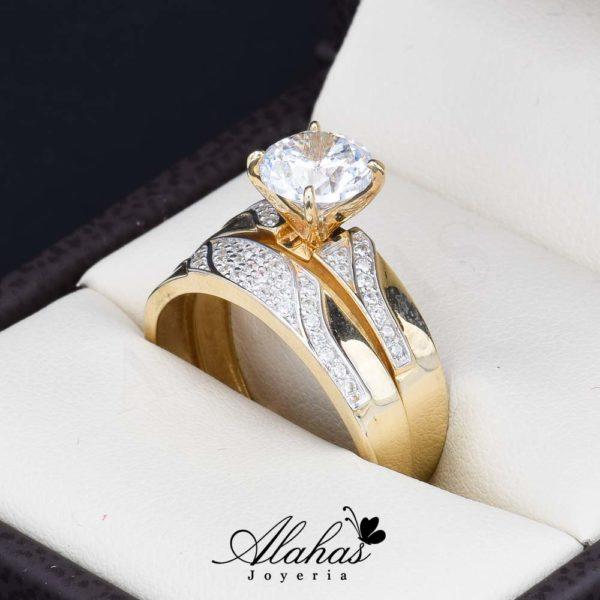 Duo de boda oro 14k Joyeria Alahas DO-052