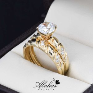 Duo de boda oro 14k Joyeria Alahas DO-054