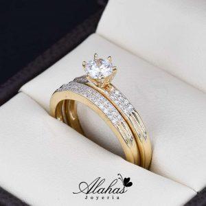 Duo de boda oro 14k Joyeria Alahas DO-057