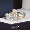 Trio de boda oro 14k Joyeria Alahas TROZ-007