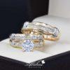Trio de boda oro 14k Joyeria Alahas TROZ-070