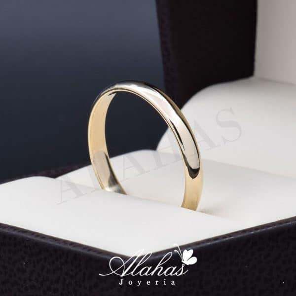 Alianza de boda oro 14k 3mm AO-003