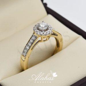 Anillo de compromiso oro 14k con diamantes sdiam-001