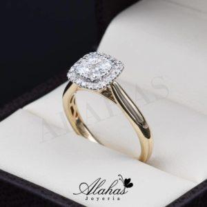 Anillo de compromiso oro 14k con diamantes sdiam-006