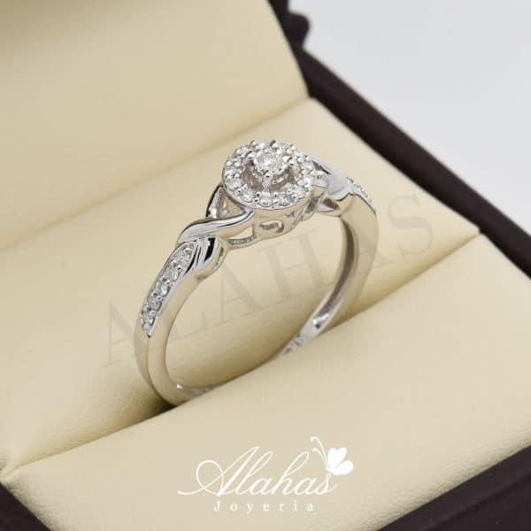 Anillo de compromiso oro 14k con diamantes sdiam-009