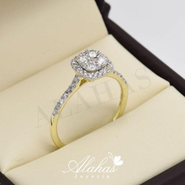 Anillo de compromiso oro 14k con diamantes sdiam-011