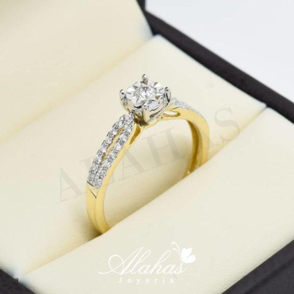 Anillo de compromiso oro 14k con diamantes sdiam-016