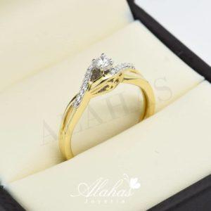 Anillo de compromiso oro 14k con diamantes sdiam-018