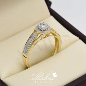 Anillo de compromiso oro 14k con diamantes sdiam-019