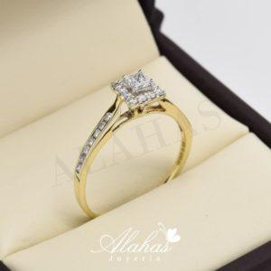 Anillo de compromiso oro 14k con diamantes sdiam-020
