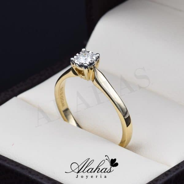 Anillo de compromiso oro 14k con diamantes sdiam-023