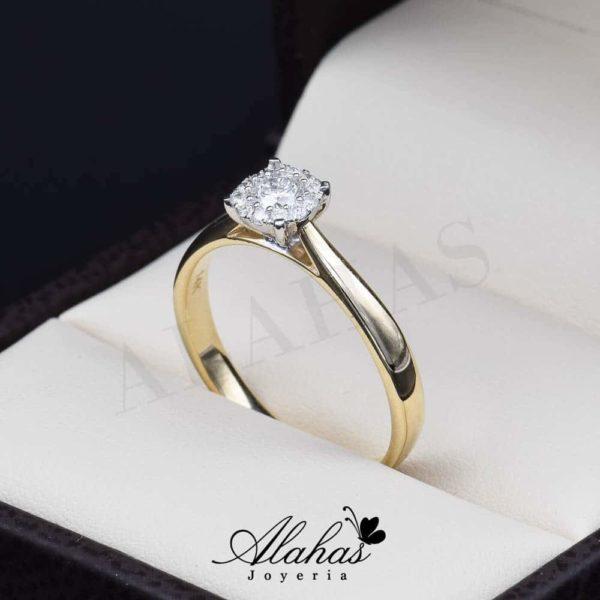 Anillo de compromiso oro 14k con diamantes sdiam-024