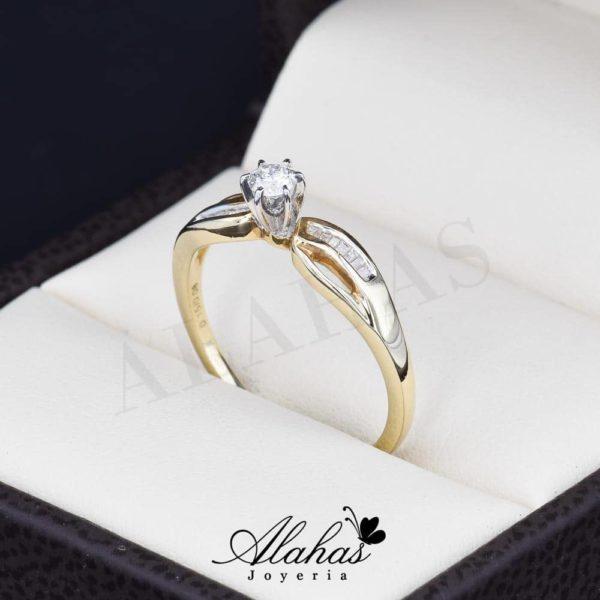 Anillo de compromiso oro 14k con diamantes sdiam-026
