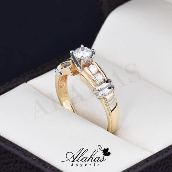 Anillo de compromiso oro 14k con diamantes sdiam-027