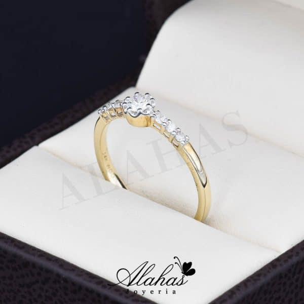 Anillo de compromiso oro 14k con diamantes sdiam-028