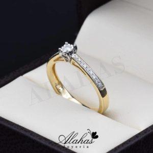 Anillo de compromiso oro 14k con diamantes sdiam-029