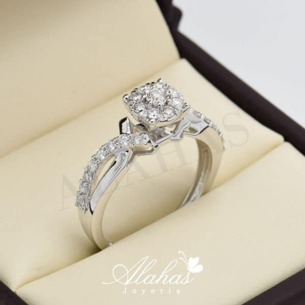 Anillo de compromiso oro 14k con diamantes sdiam-041