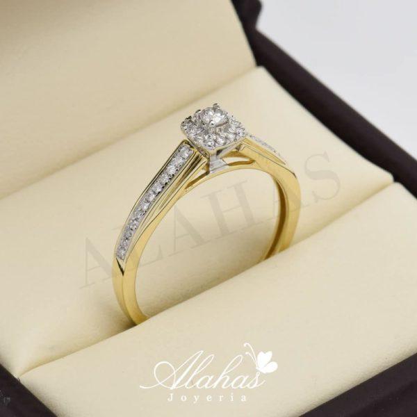 Anillo de compromiso oro 14k con diamantes sdiam-043