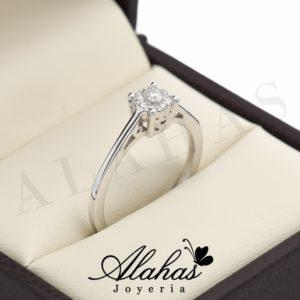 Anillo de compromiso oro 14k con diamantes sdiam-045