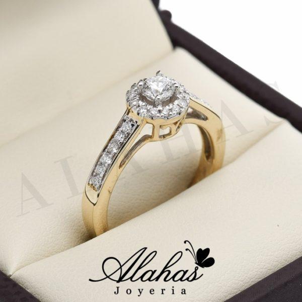 Anillo de compromiso oro 14k con diamantes sdiam-046