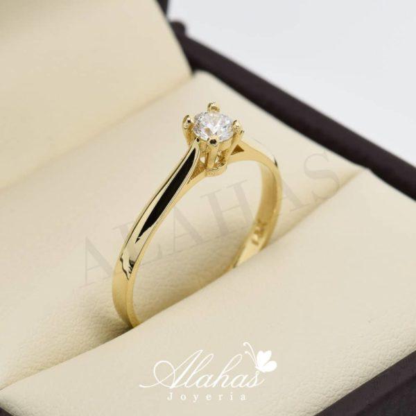 Anillo de compromiso oro 14k con diamantes sdiam-048