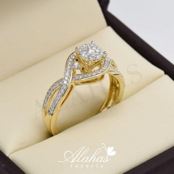 Anillo de compromiso oro 14k con diamantes sdiam-049