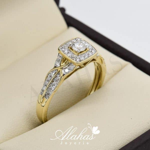 Anillo de compromiso oro 14k con diamantes sdiam-052