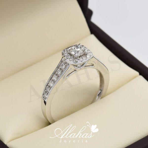 Anillo de compromiso oro 14k con diamantes sdiam-054
