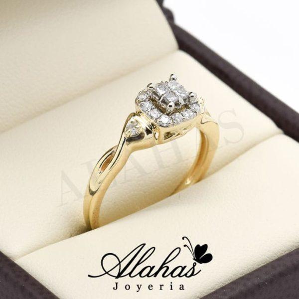 Anillo de compromiso oro 14k con diamantes sdiam-059