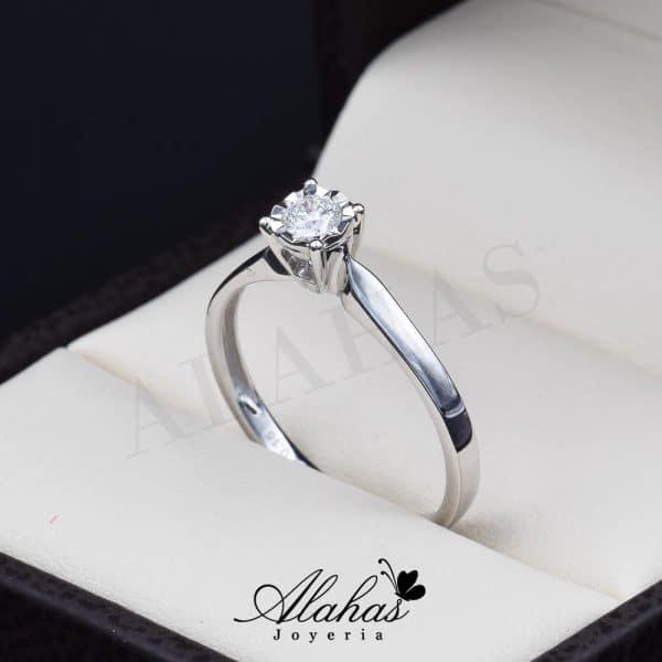 Anillo de compromiso oro 14k con diamantes sdiam-064