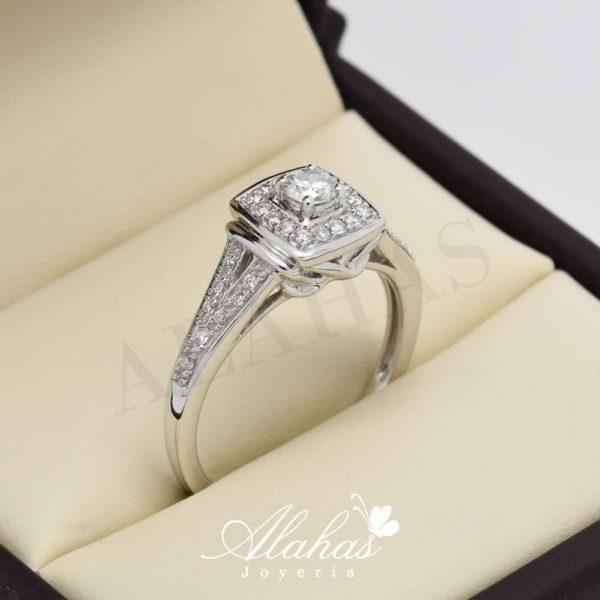 Anillo de compromiso oro 14k con diamantes sdiam-065