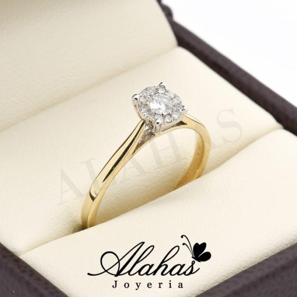 Anillo de compromiso oro 14k con diamantes sdiam-067