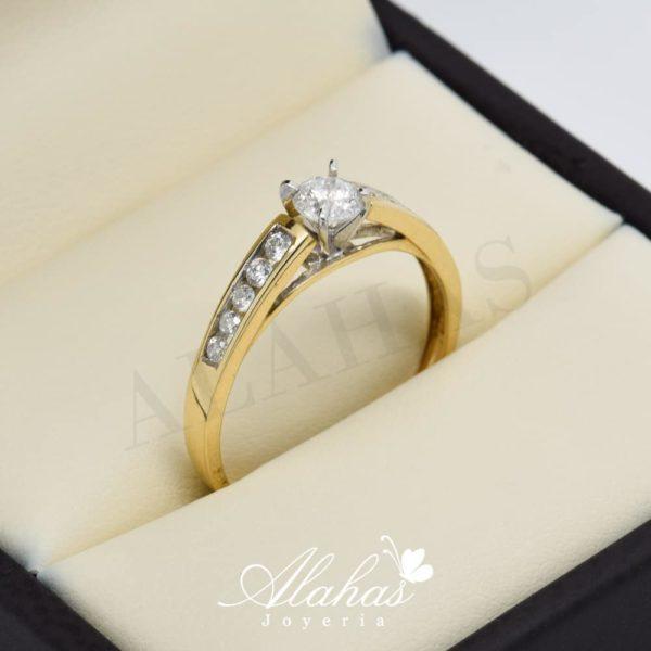 Anillo de compromiso oro 14k con diamantes sdiam-072