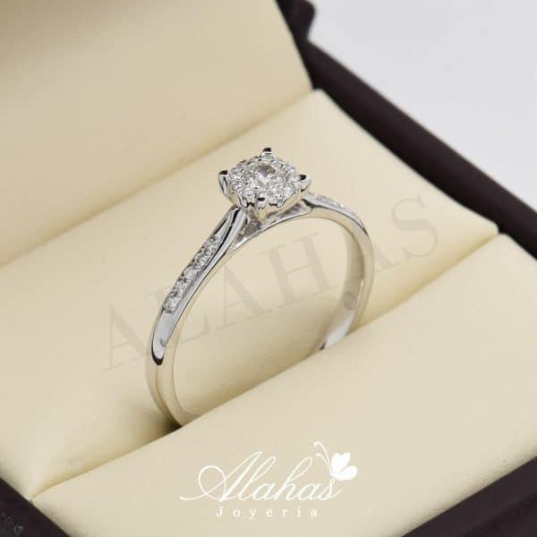 Anillo de compromiso oro 14k con diamantes sdiam-073