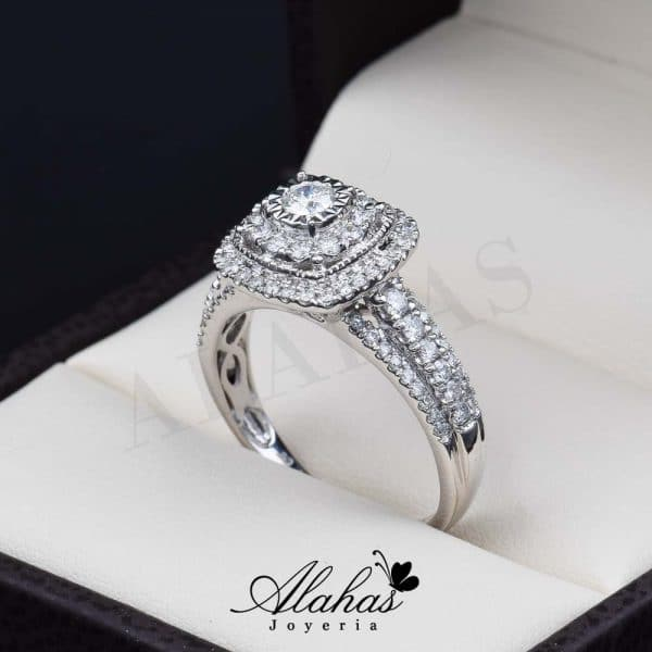 Anillo de compromiso oro 14k con diamantes sdiam-076