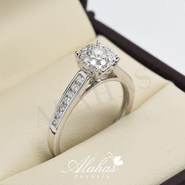 Anillo de compromiso oro 14k con diamantes sdiam-077