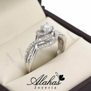 Anillo de compromiso oro 14k con diamantes sdiam-078