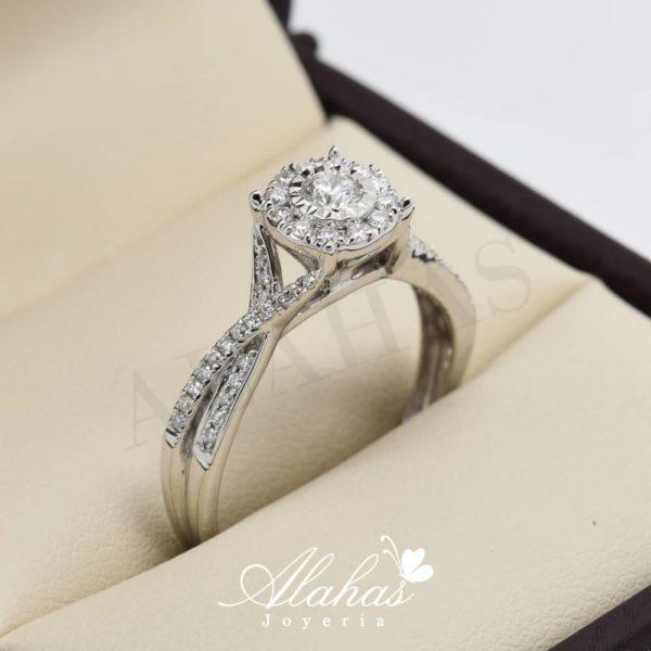Anillo de compromiso oro 14k con diamantes sdiam-079