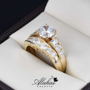 Duo de boda oro 14k DO-022