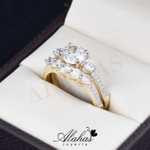 Duo de boda oro 14k DO-023