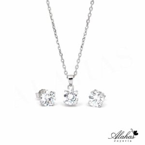 Set en plata 925 con zirconias SP-009