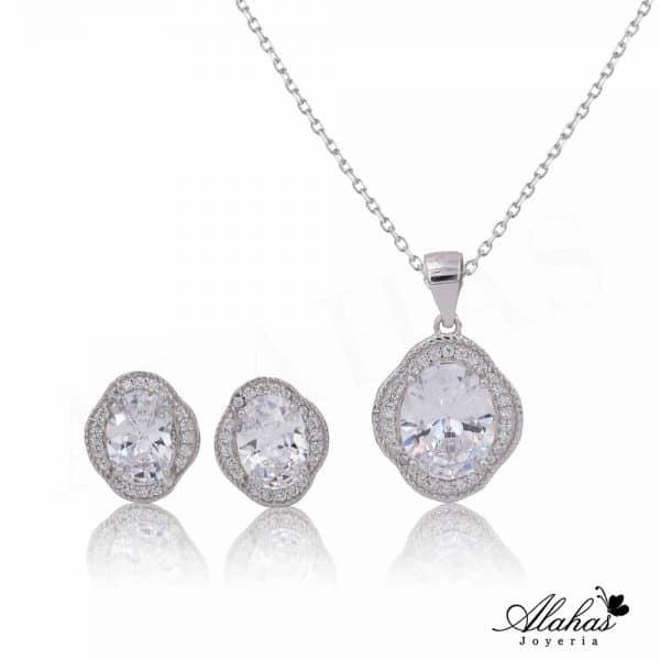 Set en plata 925 con zirconias SP-012