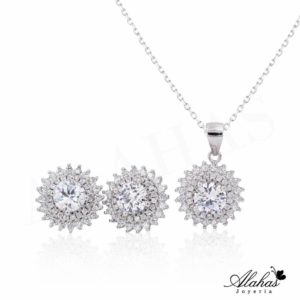 Set en plata 925 con zirconias SP-013