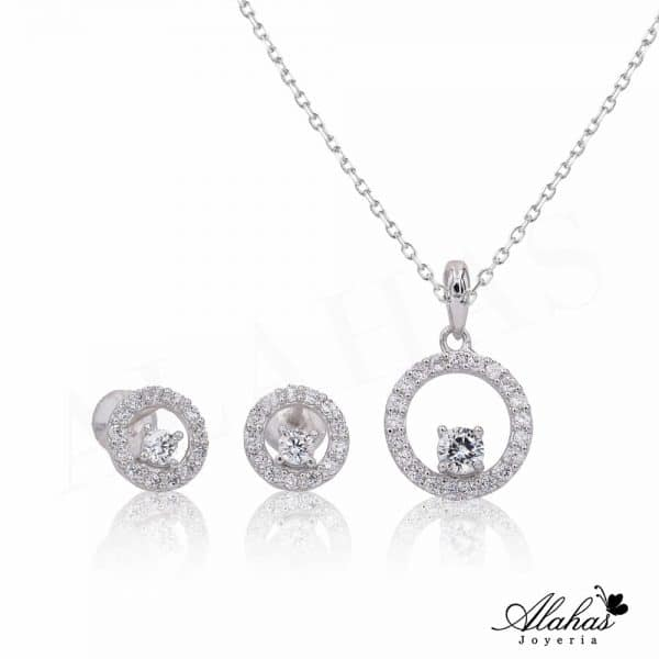 Set en plata 925 con zirconias SP-016