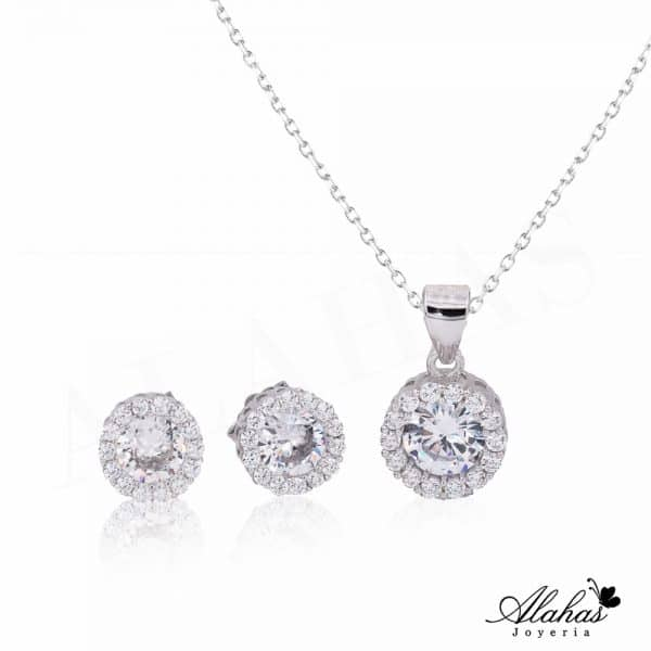 Set en plata 925 con zirconias SP-019