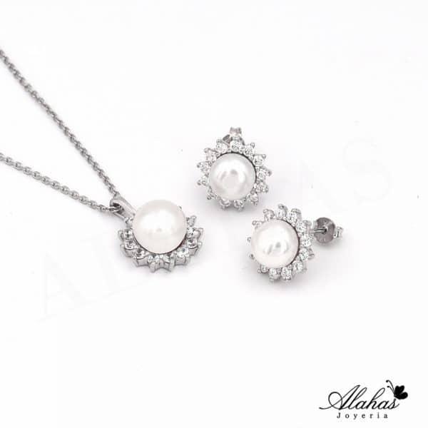 Set en plata 925 con zirconias SP-021