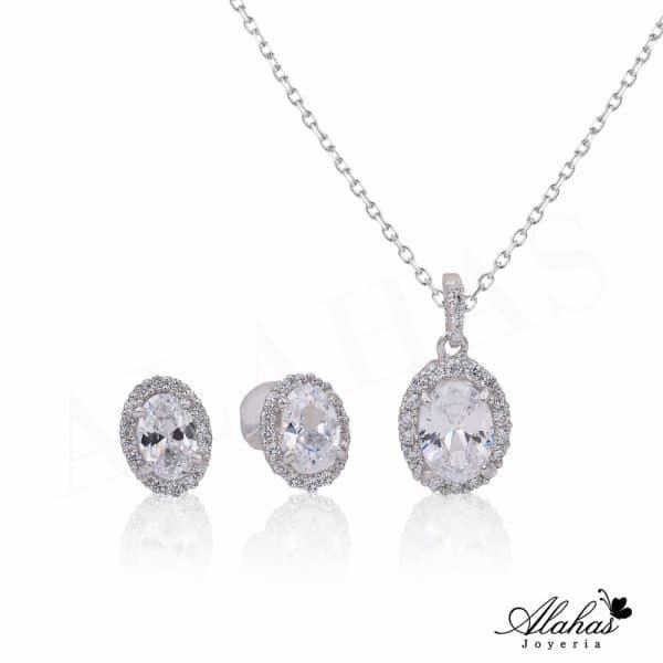 Set en plata 925 con zirconias SP-022