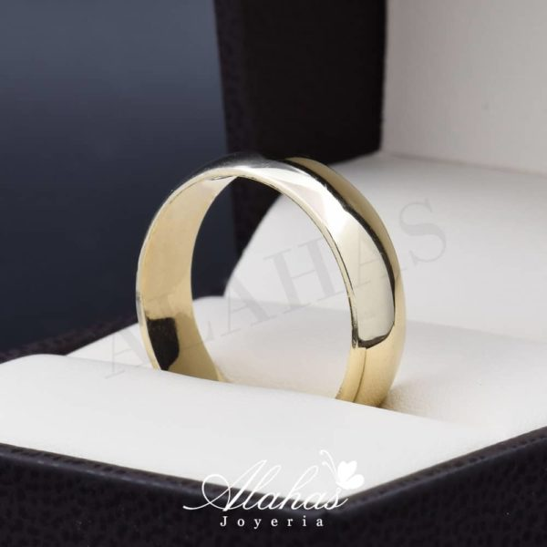 Alianza de boda oro 14k 6mm AO-009
