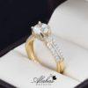 Anillo de compromiso oro 14k con zirconias soloz-092