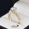 Anillo de compromiso oro 14k con zirconias soloz-099